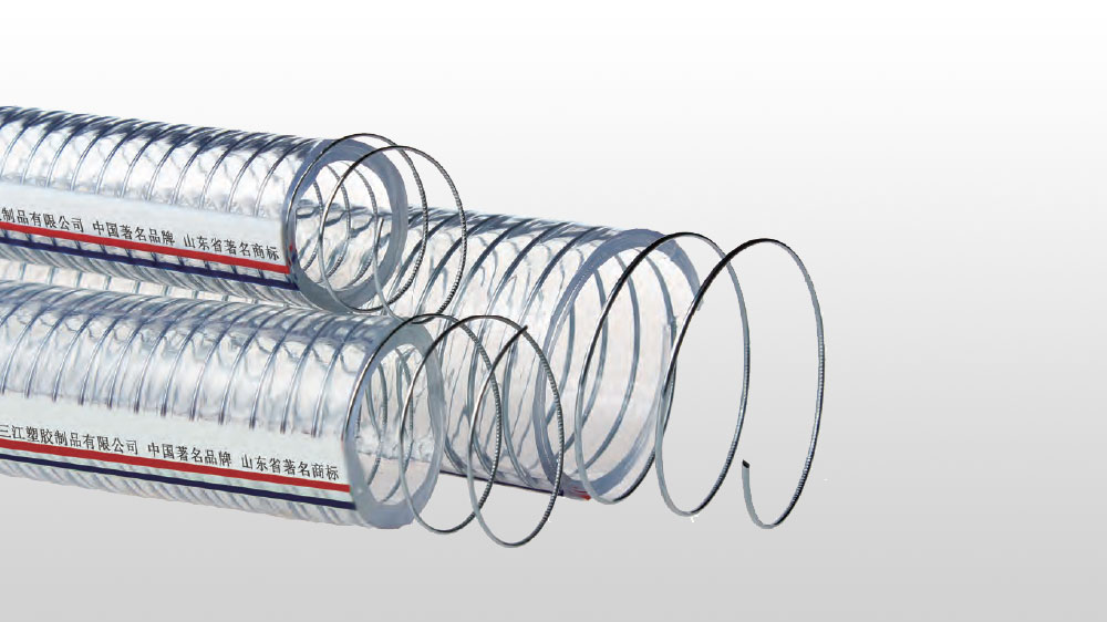 Spiral reinforced hose for PVC steel wire