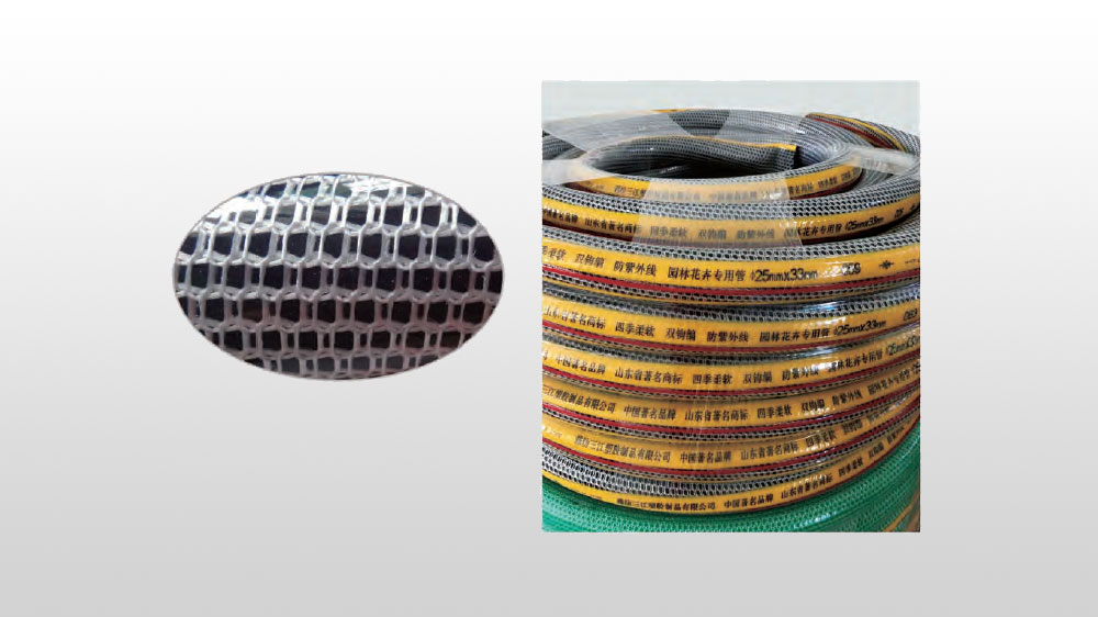 PVC high strength polyester fiber reinforced hose twisted double border