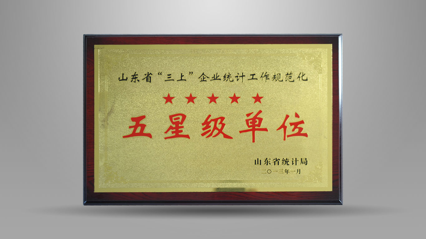 Five star units of Shandong Provincial Bureau of Statistics