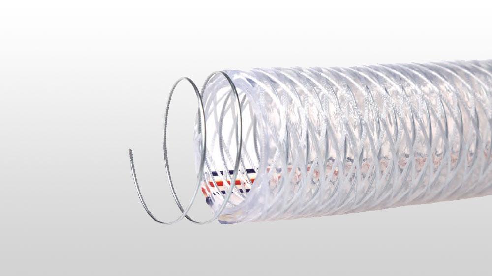 PVC钢丝高强度涤纶纤维复合增强软管