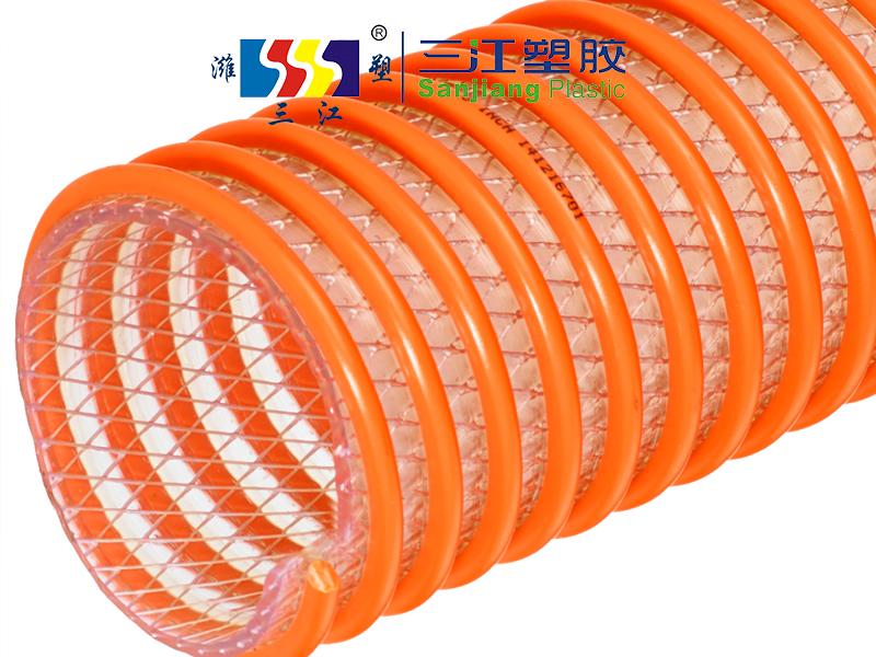 pvc螺旋塑筋纤维双重增强管 夹线红龙管 抽鱼管