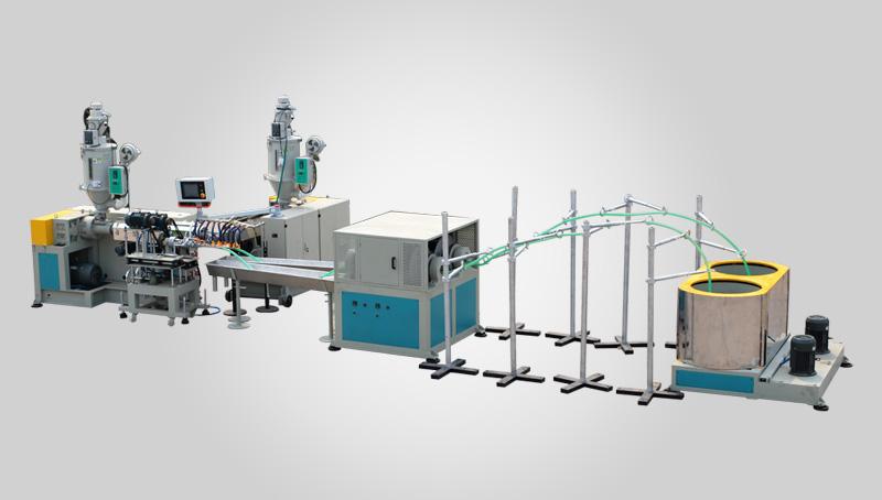 PVC塑筋螺旋增强管机组